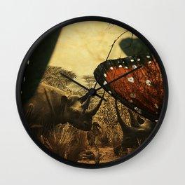 Diorama :: Rhinos Wall Clock