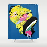 homer Shower Curtains featuring Homer 1. by Huxley Chin