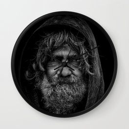homeless man people 5 Wall Clock