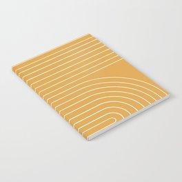 Minimal Line Curvature - Golden Yellow Notebook
