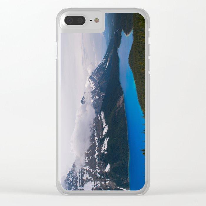 Bright Blue Body Clear iPhone Case