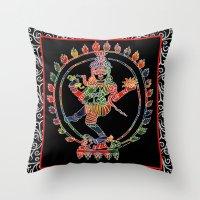 shiva Throw Pillows featuring Shiva Nataraja by Jessica Beth Sporn
