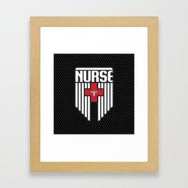 Nurse Shield Framed Art Print