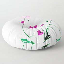 Roseate Jewels No.12k by Kathy Morton Stanion Floor Pillow