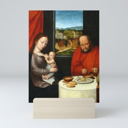 Virgin and Child with Saint Joseph Mini Art Print