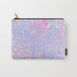 Abstract hand painted pink teal watercolor splatters Carry-All Pouch