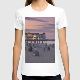 Sellin Beach Baskets and Pier T-shirt