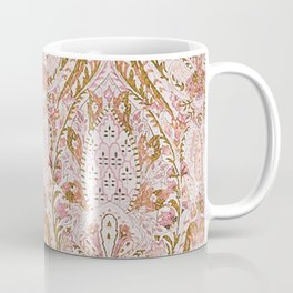 Orange Pink Leaf Flower Paisley Coffee Mug