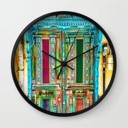 Beautiful Multi-Colored Doorway Photograph Wall Clock