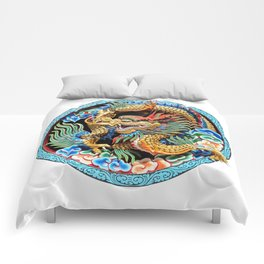 Chinese Dragon Art Mythical Comforters