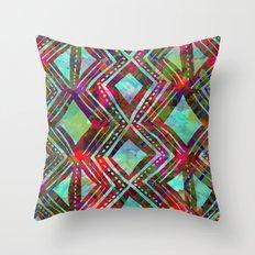 KENYA - Aqua Throw Pillow
