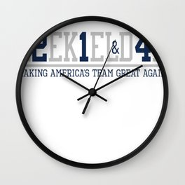 Making America's Team Great Again (Blue Numbers) Wall Clock