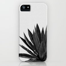 Agave Cactus Black & White Slim Case iPhone (5, 5s)