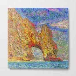 Cabo San Lucas Arch in Bloom Metal Print