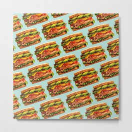 Sandwich Pattern - Turkey Metal Print