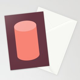 Cylinder Burgundy Pink Stationery Cards