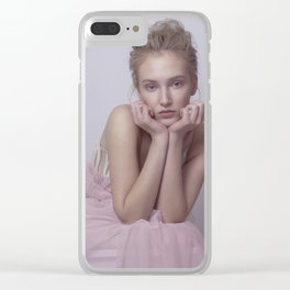 pink world Clear iPhone Case