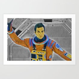 2001: A Space Odissey Artistic Illustration Vibrant Paper Style Art Print