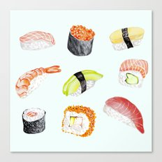 Sushi love Canvas Print