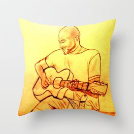 Guitarist Throw Pillow