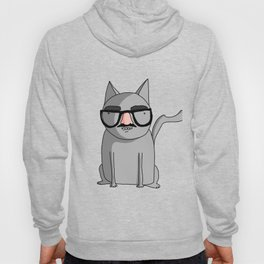 Cat with Groucho Glasses Hoody