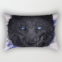 The Paint & The Wolf Rectangular Pillow