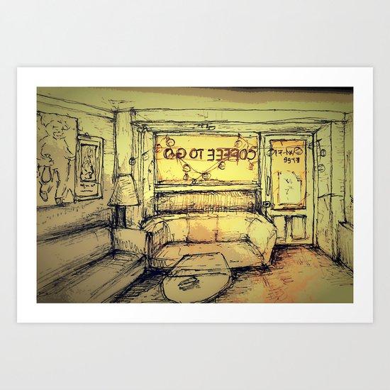 Tjilly bar Art Print