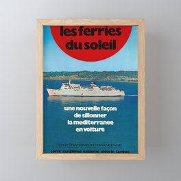manifesto les ferries du soleil une nouvelle facon de sillonner la mediterranee compagnie generale transmediterraneenne a Framed Mini Art Print