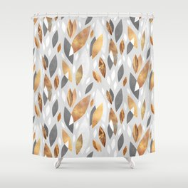 Falling Gold Leaves Shower Curtain