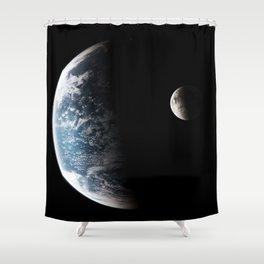 Earths orbit Shower Curtain