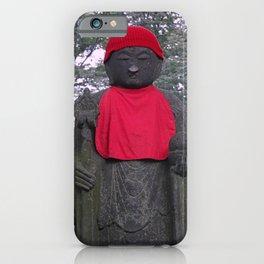 red hat white nose jizo statue iPhone Case