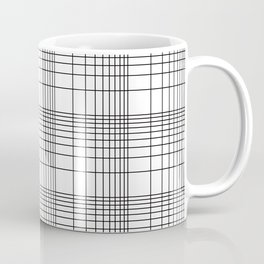 Simple Grid Pattern-Black on White - Mix & Match with Simplicity of life Coffee Mug