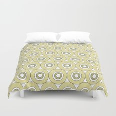 dots in green Duvet Cover