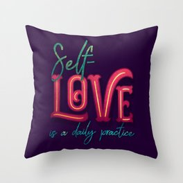 Kelly-Ann Maddox Collection :: Self-Love (Simple) Throw Pillow