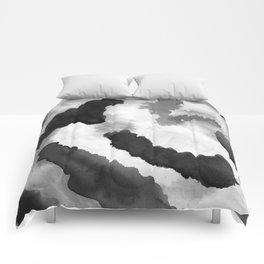 Ink Blot Abstract Watercolor Comforters