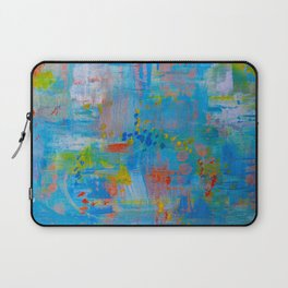 Colorful Abstract Wall Art, Vibrant colors, Contemporary home decor Laptop Sleeve