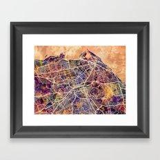 Edinburgh City Scotland Street Map Framed Art Print