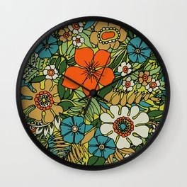 70s Plate Wall Clock