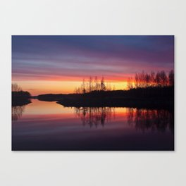lake in Finland at early night 2 Canvas Print