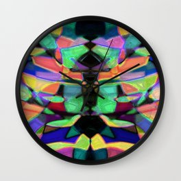 Drinkin Whiskey and Rye: Colorful Digital Abstract Design Wall Clock