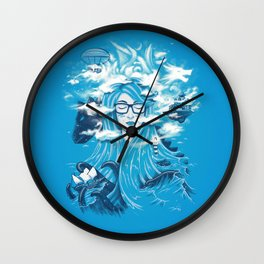 Queen of Waves Wall Clock