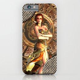 Steampunk, beautiful steam women iPhone Case
