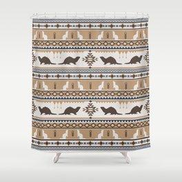 Boho Animals | Ferret tan Shower Curtain