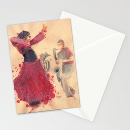 danz4 by nicolas Perruche Stationery Cards