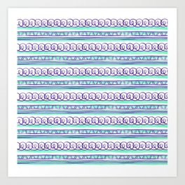 @@@ - Violet and Sea Foam Art Print