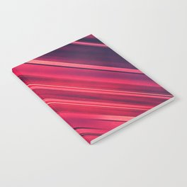 Moder Red / Black Stripe  Abstract Stream Lines Textuer Design Notebook