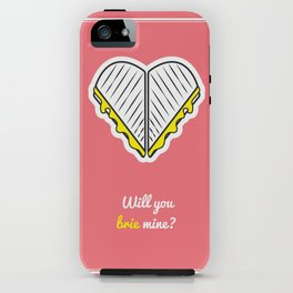 Cheesy Hearts - Brie iPhone Case