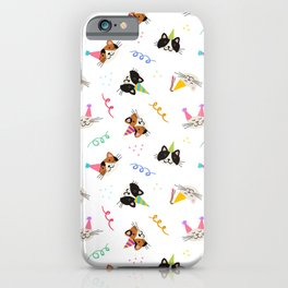 Cat Purr-tay! // White iPhone Case