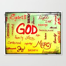 God Wordle Canvas Print