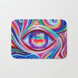 """Eye love you too"" by Audreana Cary & Adam France Bath Mat"